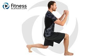 Abs and HIIT Cardio Workout - No Equipment Lower Body and Core  Challenge