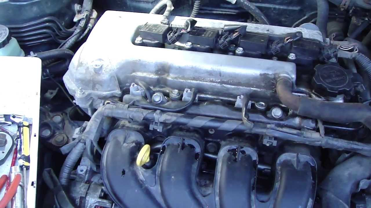 How to change fuel injectors in Toyota Corolla VVTi engineYears 20002015  YouTube
