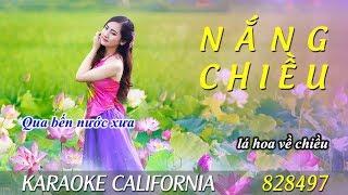 NẮNG CHIỀU 🎤 Karaoke California 828497 (HD)