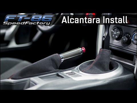 Alcantara Shifter & E-brake Boot Install - FT86SpeedFactory