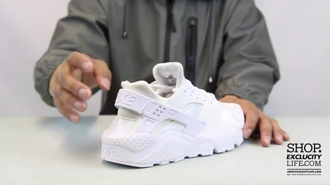 Women s Nike Huarache White - White Video at Exclucity - YouTube 6dc5b8810f