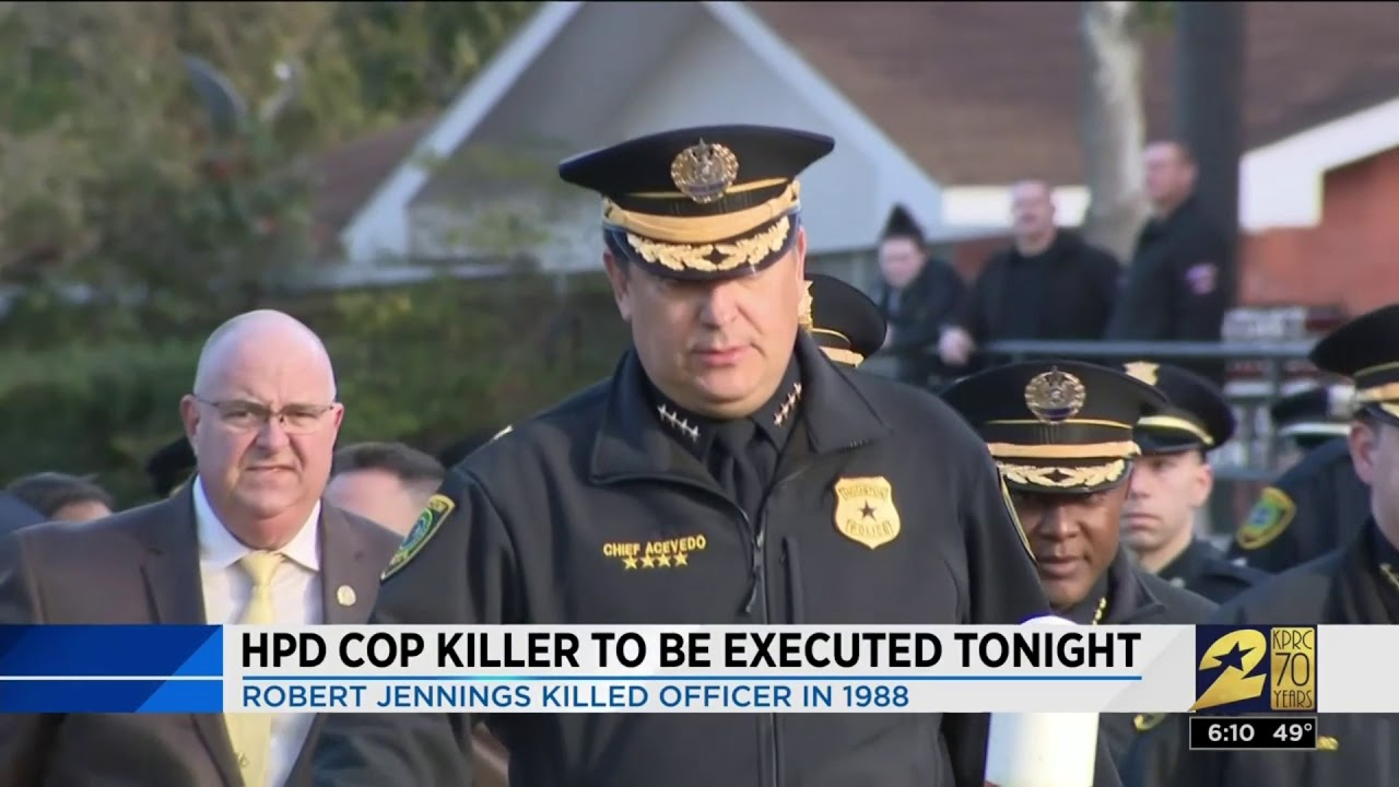HPD cop killer to be executed tonight  Robert Jennings killed officer in  1988