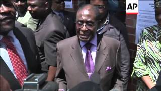 Mugabe and Tsvangirai vote on new constitution