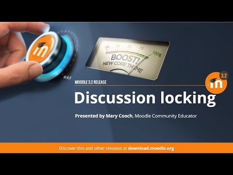 Discussion Locking in Moodle 3.2