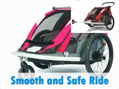 Croozer 525 Double Child Bicycle Trailer Review Youtube
