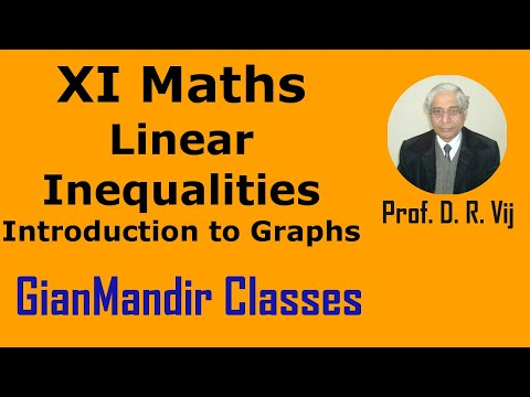 XI Mathematics - Linear Inequalities - Introduction to Graphs by Divya Mam