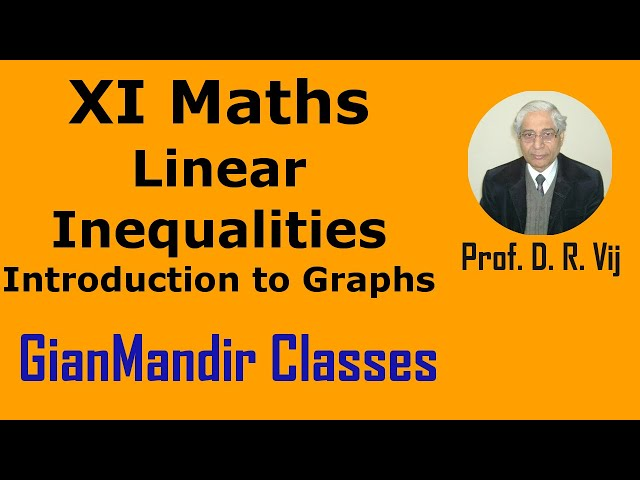 XI Maths | Linear Inequalities | Introduction to Graphs by Divya Ma'am