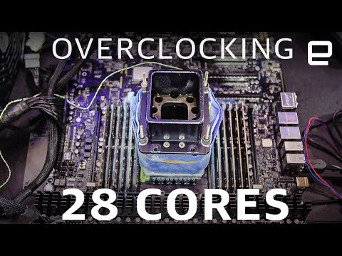 Overclocking a 28 Core CPU at Computex 2019