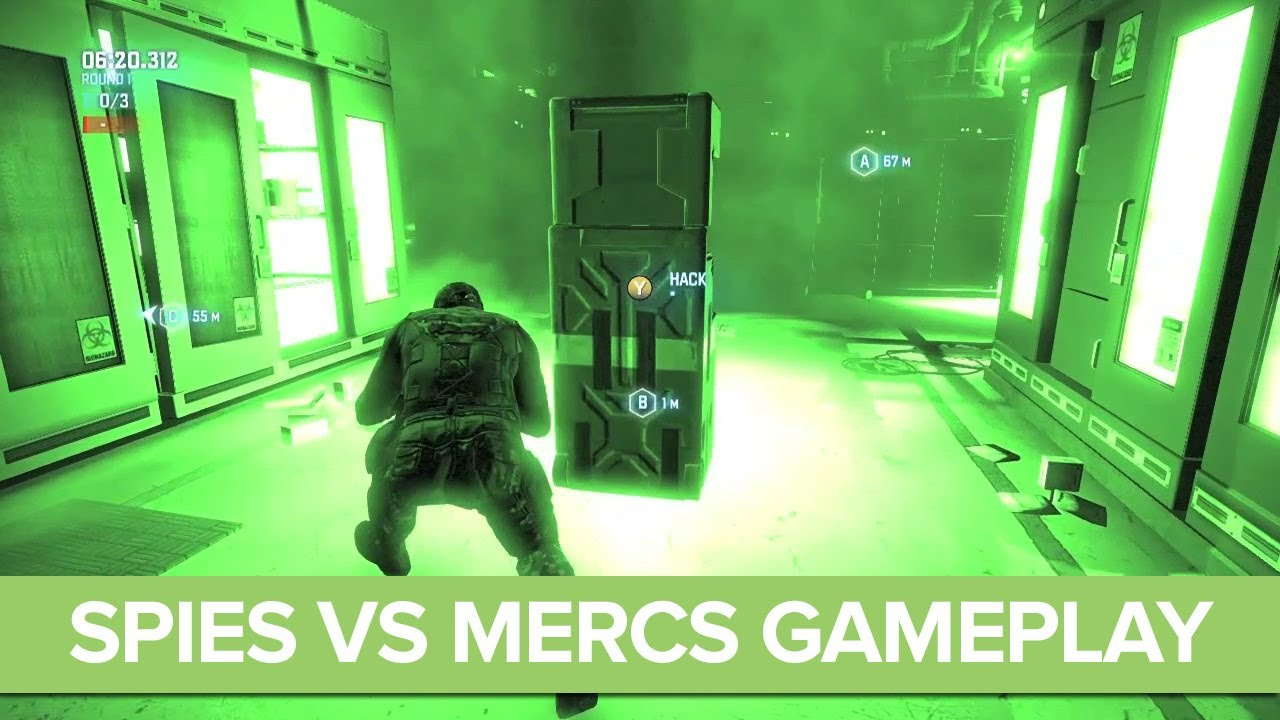 Splinter Cell Blacklist Spies vs Mercs Gameplay Preview - Multiplayer  Gameplay