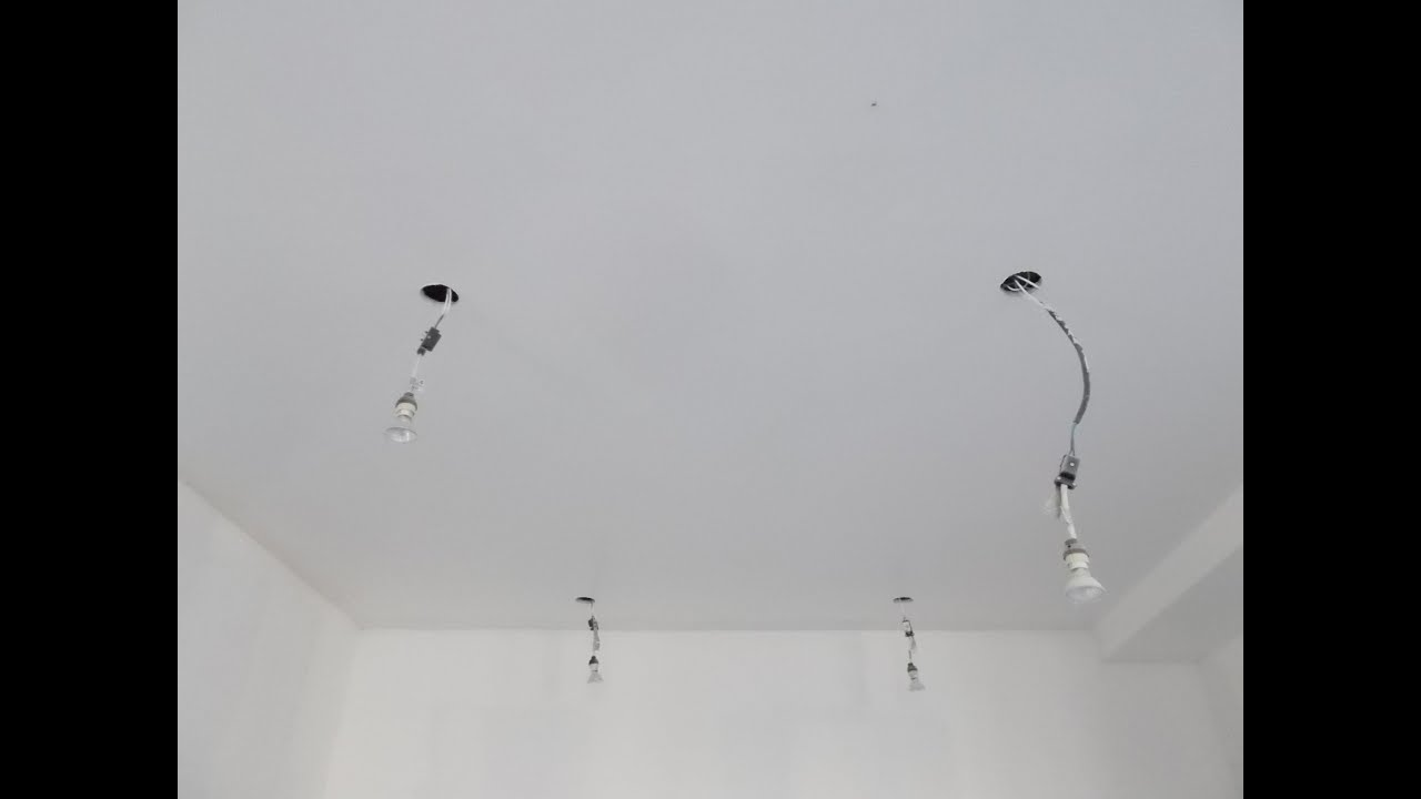 Installation circuit allumage spot youtube - Comment installer des spots led au plafond ...