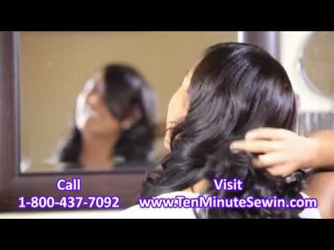 Best Virgin Hair #1 Fastest Sew-In Weave Option Ten Minute Sew-In
