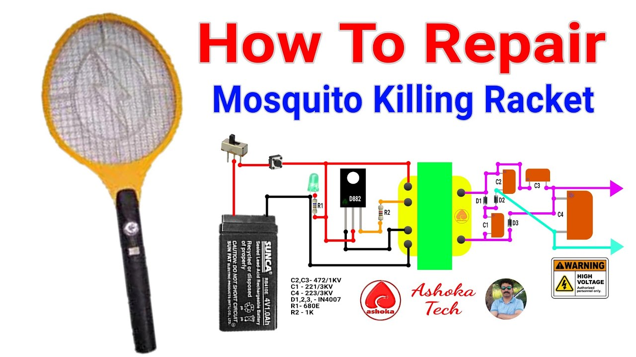 How To Repair Mosquito Killing Racket. in Hindi by ashoka tech. Old Bug Zapper Wiring Diagram For on