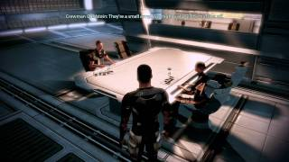 """Mass Effect 2"", HD walkthrough on Insanity, Part 19 - Normandy (after ""The Assassin"" mission)"