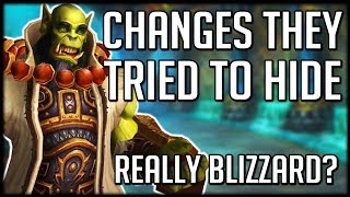 REALLY BLIZZARD? Patch 8.1 UNDOCUMENTED Changes Are Crazy | WoW Battle for Azeroth