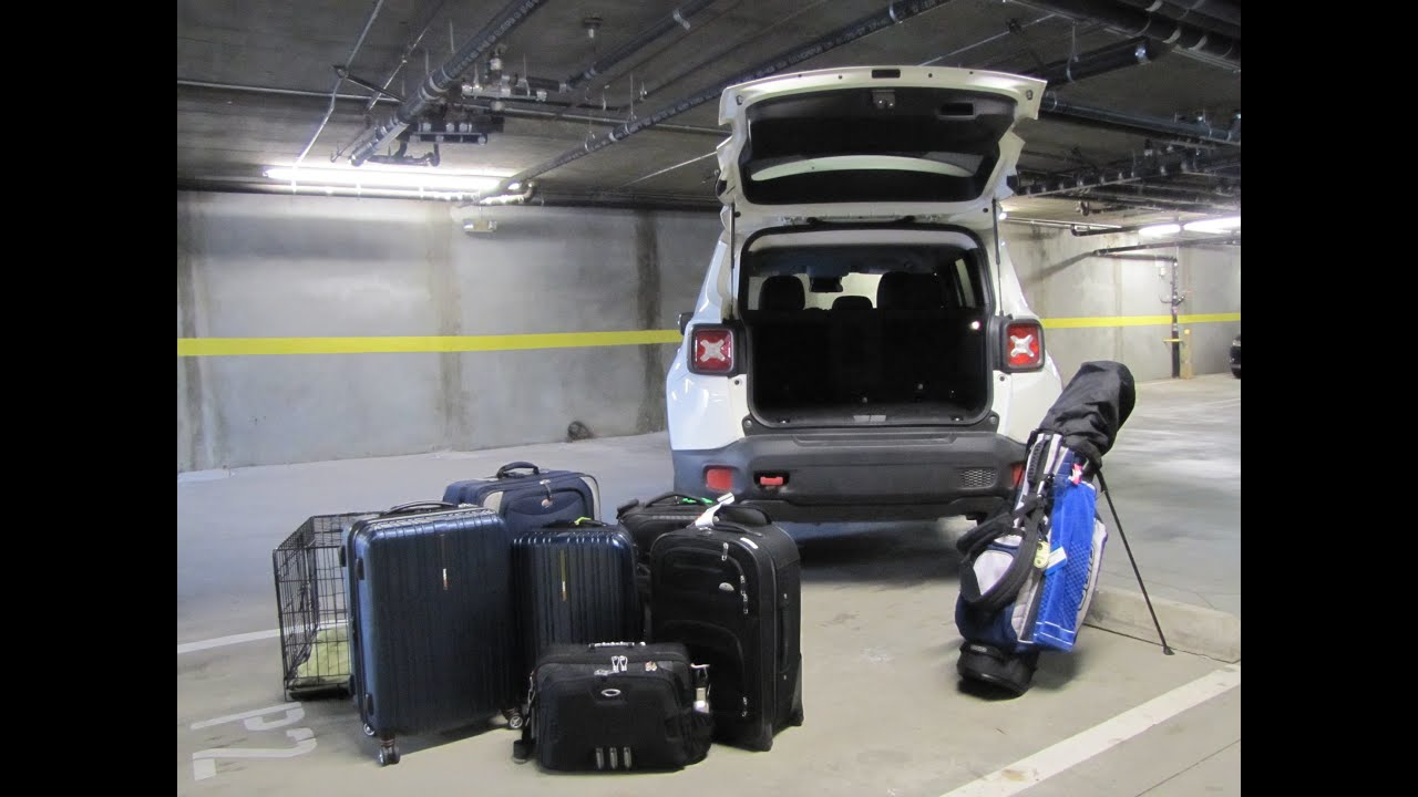 Jeep Renegade Cargo Space Review How Much Fits Youtube