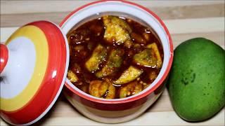 आम का गुड़ वाला अचार   आम का खट्टा मीठा अचार   How to make Aam ka Achar    Instant Easy Mango Pickle