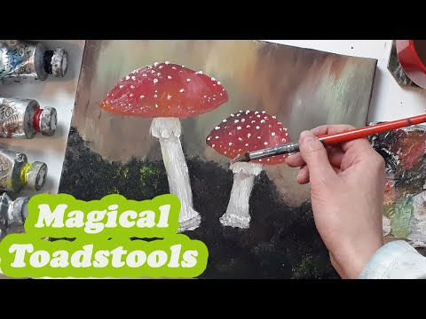 How to paint MUSHROOMS Oil Painting by Luna DAILY CHALLENGE