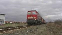 (HD) Zugkreuzung in Halberstadt Spiegelsberge mit DR V 100 und 241 697