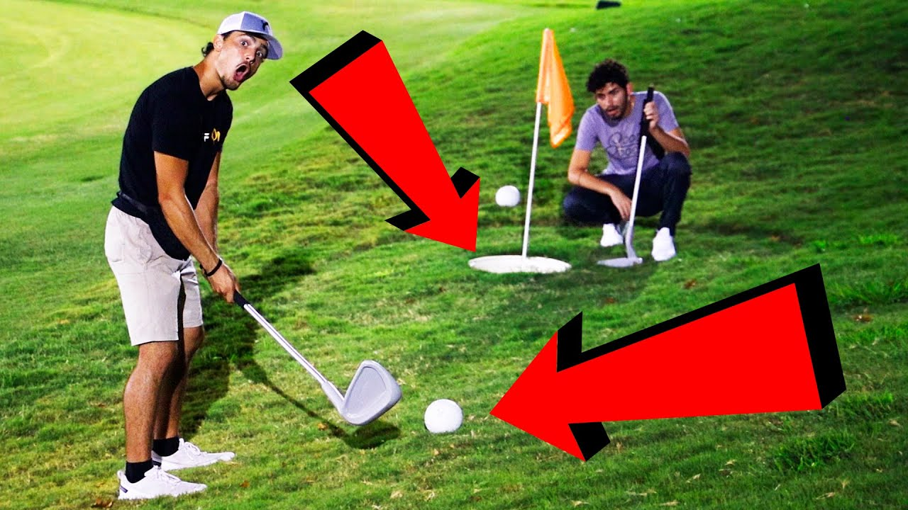 We played Golf with the WORLD'S Biggest Clubs & Holes