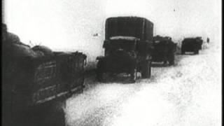 Дорога жизни на блокадный Ленинград....