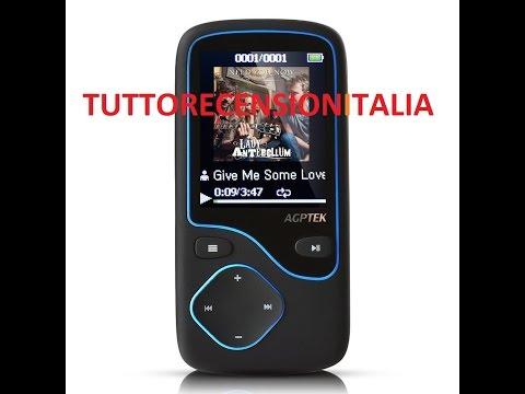 Agptek C05 Lettore MP3 Bluetooth di 8 GB espandibile fino a 64gb