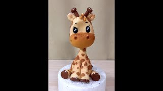 Жирафик ( мк жираф из мастики )( How to Make a Cute Fondant Giraffe)
