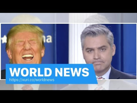 World News - Jim Acosta reacts to CNN fake news Award from Trump is priceless