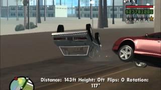 GTA San Andreas: Driving Off a Cliff