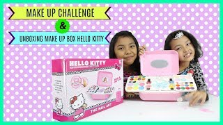 MAKE UP CHALLENGE ♥ UNBOXING MAINAN ANAK MAKE UP HELLO KITTY