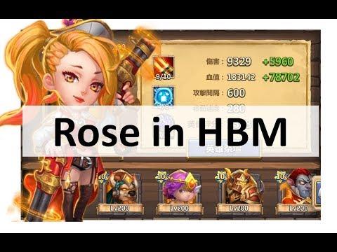 CC #164 Solo Rose in HBM by Hunted Schloss Konflikt | Castle Clash