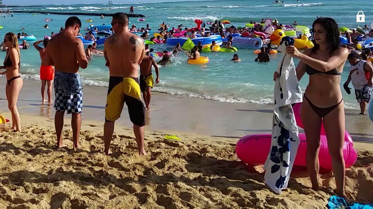 University Of Hawaii 2017 Spring Break Party At Waikiki Beach Oahu