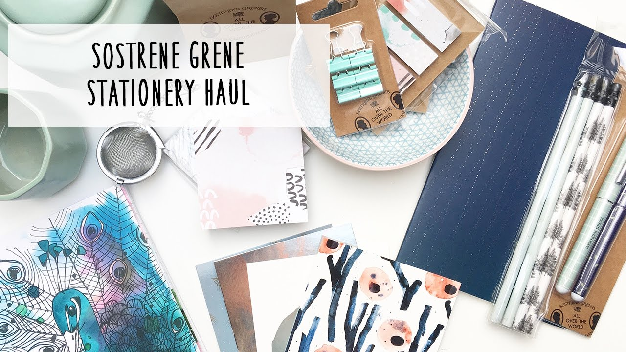 sostrene grene stationery haul german youtube. Black Bedroom Furniture Sets. Home Design Ideas