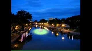Simulare spectacol de apa, lumini si muzica pe Bega
