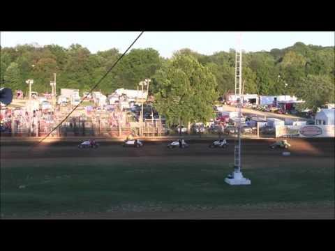Sprint Car Heat Race at Lincoln Park Speedway 9 3 16
