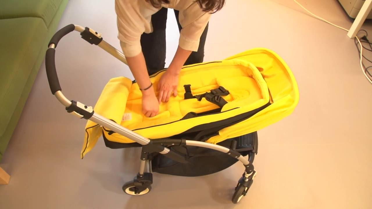 Bugaboo Pram Yellow Bugaboo Bee³ Demo Assembly With Seat
