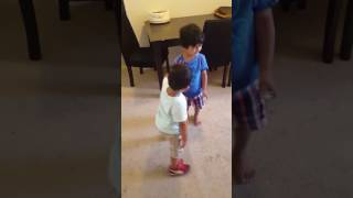Little brothers fighting
