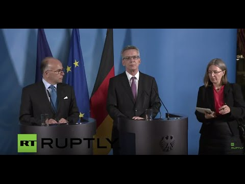 LIVE: German Interior Minister and his French counterpart hold press conference on migrant crisis
