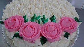 Bolo cesta de rosas