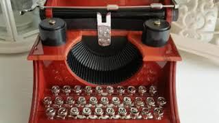 Typewriter music box