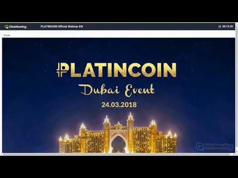 #Platincoin - #PLC - # #English - #CEO Alex Reinhardt #Dubai Event News!