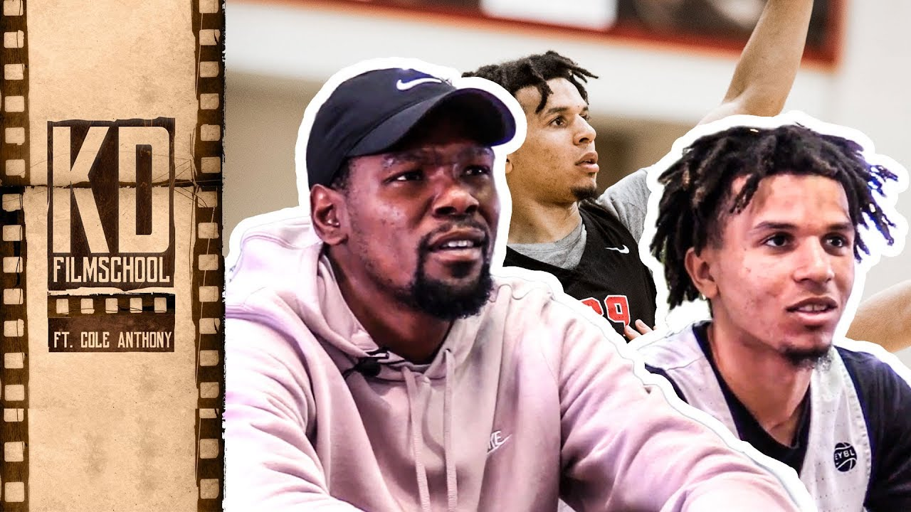 d9f828072047 Kevin Durant Reviews Film With Oak Hill s COLE ANTHONY!