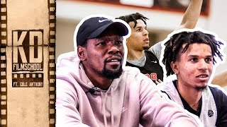 Kevin Durant Reviews Film With Oak Hill's COLE ANTHONY!