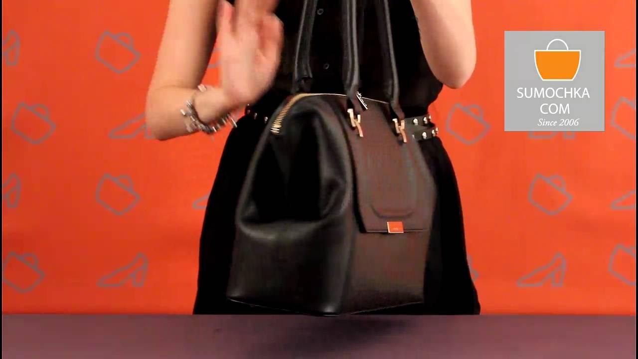 Классическая сумка Ripani 7353 JL 00078 saffiano grey metallic .