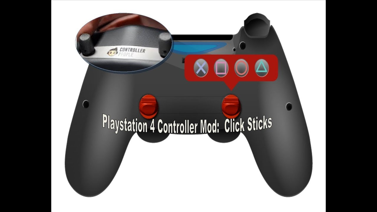 How To Mod Your Playstation 4 Controller Scuff Style : Click Stick Mod