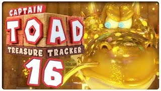 Let's Play CAPTAIN TOAD: TREASURE TRACKER Part 16: Der goldene Draggadon