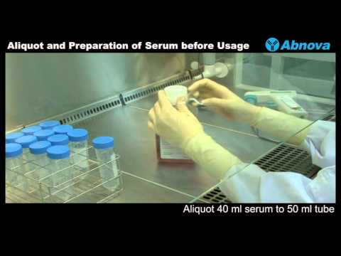 Aliquot and Preparation of Serum before Usage - YouTube