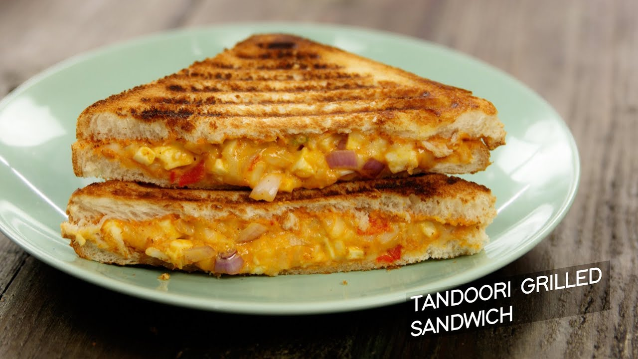 Tandoori Grilled Sandwich Cafe Style Veg Grill Cheese Recipe Cookingshooking Youtube