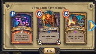 Hearthstone - How To Spend Dust From Nerfs?