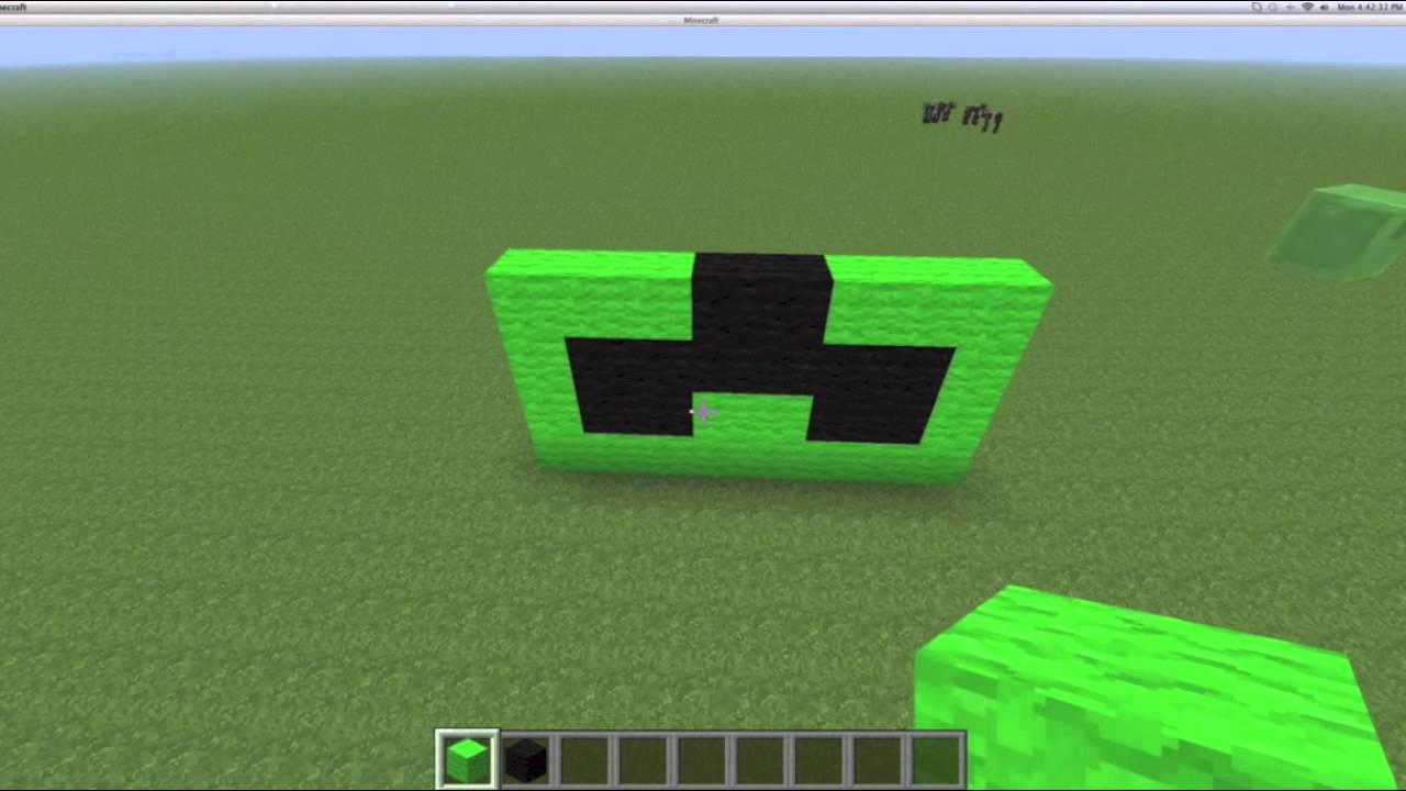 Build A Head >> minecraft creeper head tutorial!!!! - YouTube