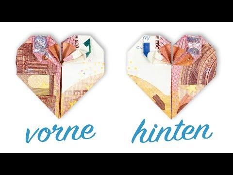Geld Falten HERZ Hochzeit ❤️ Geldgeschenk Basteln ❤️